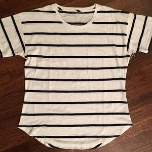 Madewell NEW white and navy striped tee